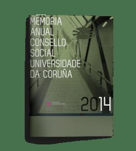 Memoria anual Consello Social UDC 2014
