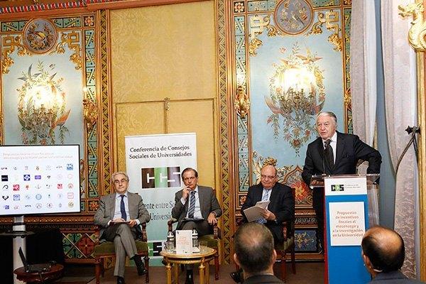 La Conferencia de Consejos Sociales presenta su propuesta para incentivar el mecenazgo universitario.