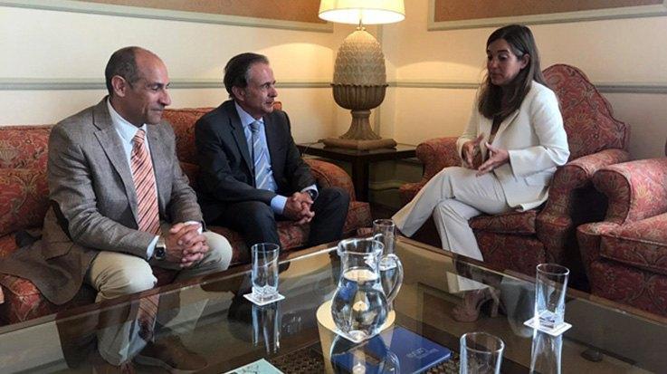 Antonio Abril con Inés Rey y Javier Celemin